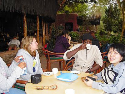 Guests Relaxing at Amboseli Serena Lodge